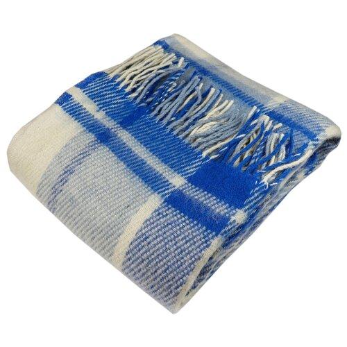 Плед ARLONI Традиция 140 х 200 см, синий покрывало arloni зеленый чай 160 х 200 см