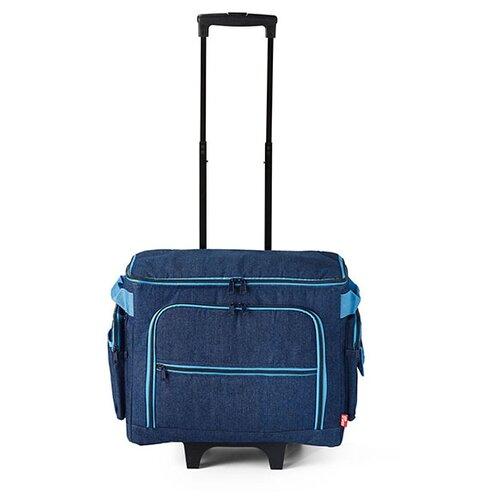 Чехол Prym для швейной машины (чемодан-тележка), 612633 индиго стол для швейной машины и оверлока комфорт 1qlw