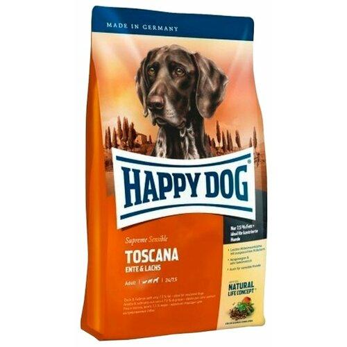 Фото - Сухой корм для собак Happy Dog Supreme Sensible Toscana для здоровья кожи и шерсти, лосось, утка 1 кг сухой корм happy dog supreme sensible adult 11kg irland salmon