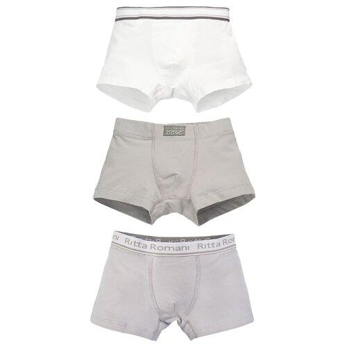 Купить Трусы Ritta Romani 3 шт., размер 128, белый/бежевый/серый, Белье и пляжная мода