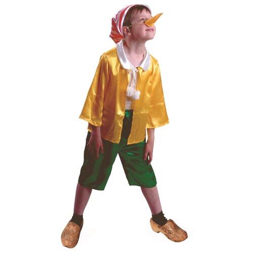 Купить Костюм Батик Буратино (7010), желтый/зеленый/красный, размер 140, Карнавальные костюмы