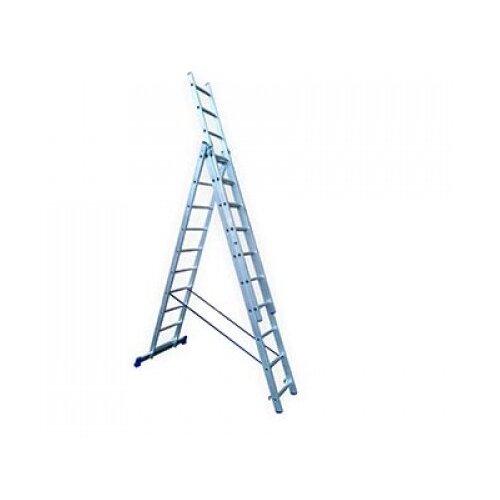 Лестница телескопическая 3-секционная HITT H4310 лестница телескопическая biber 98208