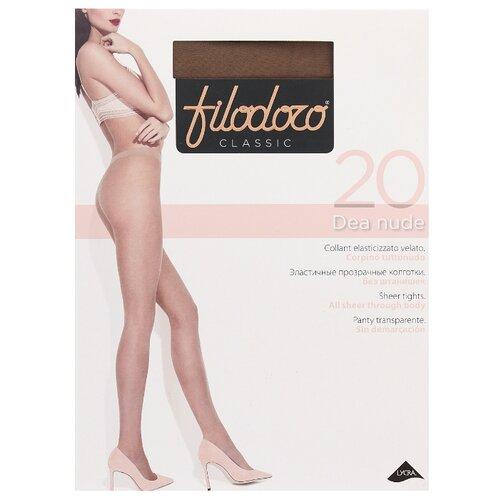 Колготки Filodoro Classic Dea Nude 20 den, размер 3-M, glace (коричневый) колготки filodoro classic dora 20 den размер 3 m glace коричневый