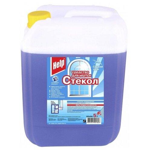 Жидкость Help Свежий озон для мытья стекол, 5 л средство для чистки стекла help свежий озон 5 л
