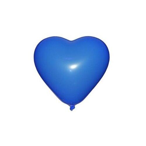 Набор воздушных шаров MILAND Пастель Сердце 31 см ШВ-4842 (50 шт.) небесно-синий