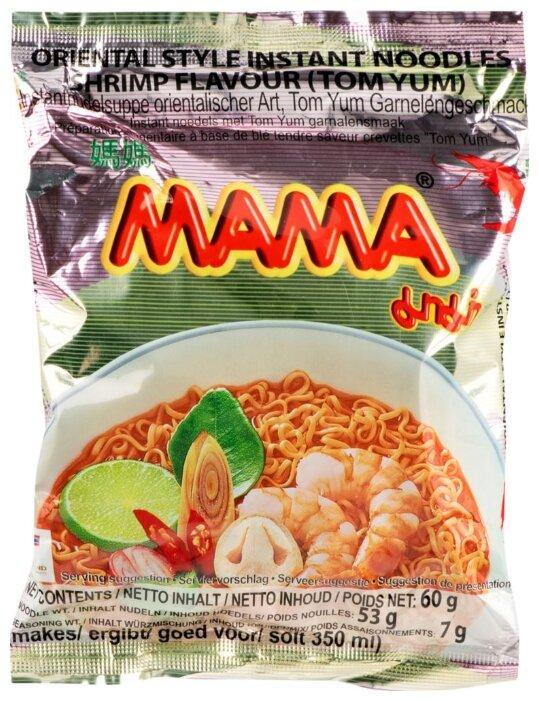 Mama Лапша тайская быстрого приготовления со вкусом Креветки Том-Ям 60 г