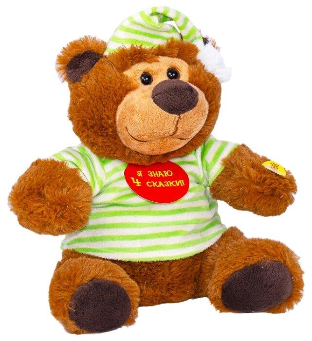 Мягкая игрушка Fancy Медведь-сказочник 4 сказки 35 см