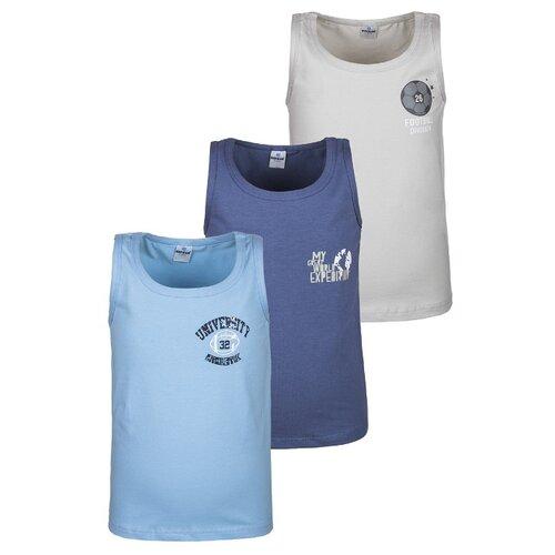 Купить Майка BAYKAR размер 86/92, голубой/синий/серый, Белье