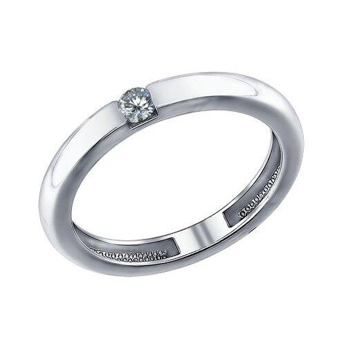 SOKOLOV Помолвочное кольцо из серебра с фианитом 94011254, размер 16.5 фото