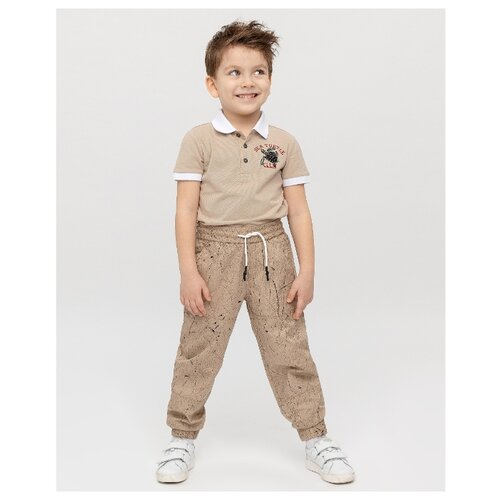 Купить Спортивные брюки Gulliver размер 122, бежевый, Брюки