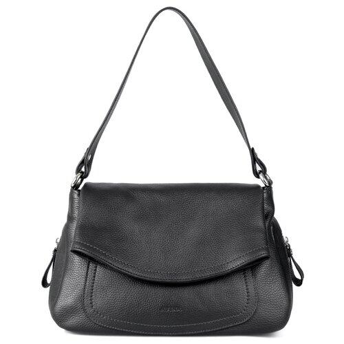 Сумка хобо Afina, натуральная кожа, черный сумка afina afina af004bwssy21
