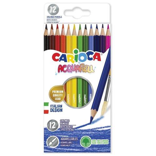 Купить Carioca набор цветных карандашей Acquarell 12 цветов (42857), Цветные карандаши