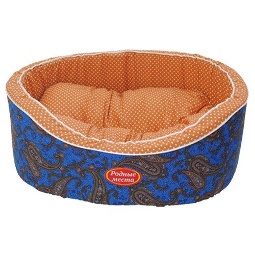 Лежак для собак и кошек Родные места Премиум №2 Огурцы 49х43х17 см синий