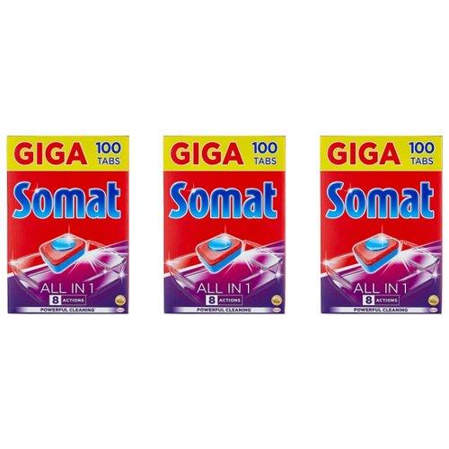 Фото - Somat All in 1 таблетки для посудомоечной машины, 300 шт. в3 уп. somat all in 1 таблетки лимон и лайм для посудомоечной машины 390 шт в6 уп