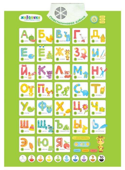 Электронный плакат Жирафики Пластилиновая азбука