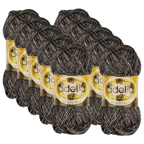 Купить Пряжа Adelia Casual, 72 % хлопок, 28 % акрил, 50 г, 130 м, 10 шт., №01 черный