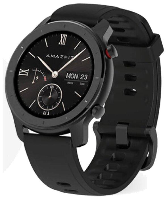 Умные часы Amazfit GTR 42мм aluminium case, silicone strap