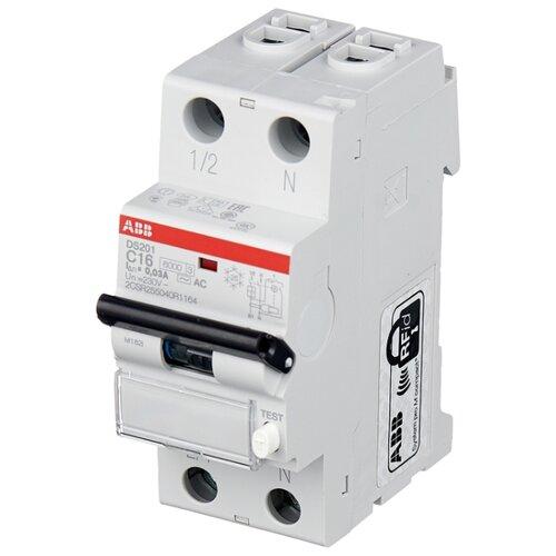 Купить со скидкой Дифференциальный автомат ABB DS201 2П 30 мА C 16 А