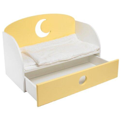 Купить PAREMO Диван-кровать для кукол Луна (PFD120-19/PFD120-20) желтый, Мебель для кукол
