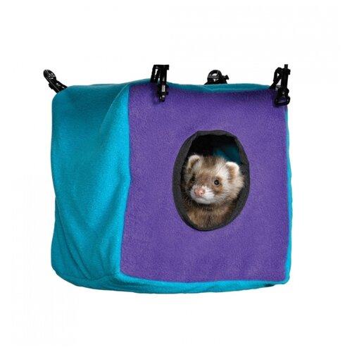цена на Домик для хорьков Midwest Nation Accessories Cozy Cube 23х23х30 см голубой