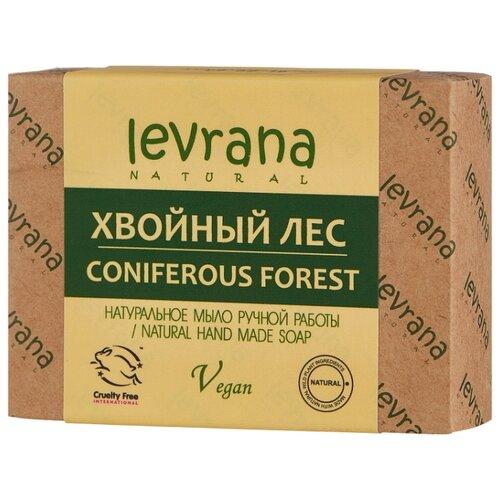 Мыло кусковое Levrana Хвойный лес натуральное ручной работы, 100 г недорого