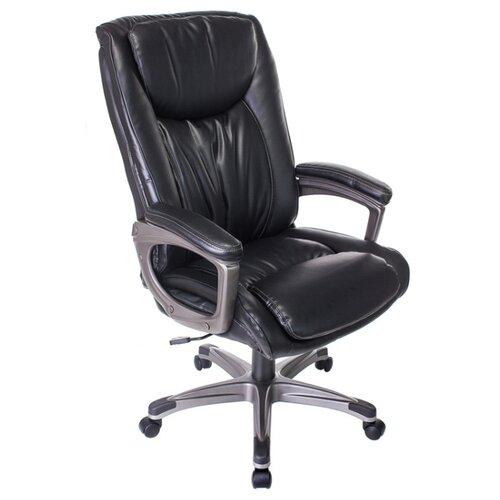 Компьютерное кресло Бюрократ T-9914 для руководителя, обивка: искусственная кожа, цвет: черный
