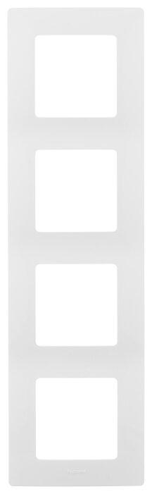 Рамка 4п Legrand Etika 672504, белый
