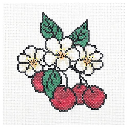 Hobby & Pro Набор для вышивания Сладкая черешенка 22 х 22 см (ПК-177)