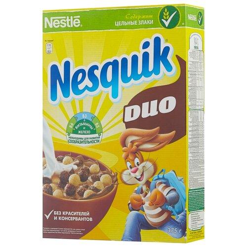 Готовый завтрак Nesquik DUO шоколадные шарики, коробка, 375 г фото