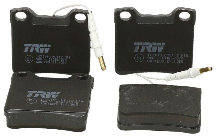 Дисковые тормозные колодки задние TRW GDB1289 для Mercedes-Benz Vito, Mercedes-Benz Vito II (4 шт.)