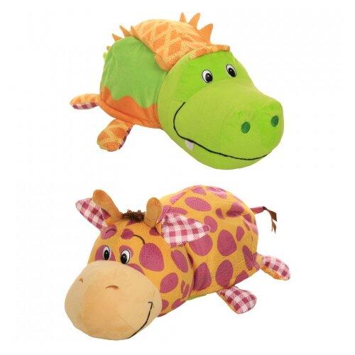 Купить Мягкая игрушка 1 TOY Вывернушка Ням-Ням Крокодильчик-Жираф с ароматом 40 см, Мягкие игрушки