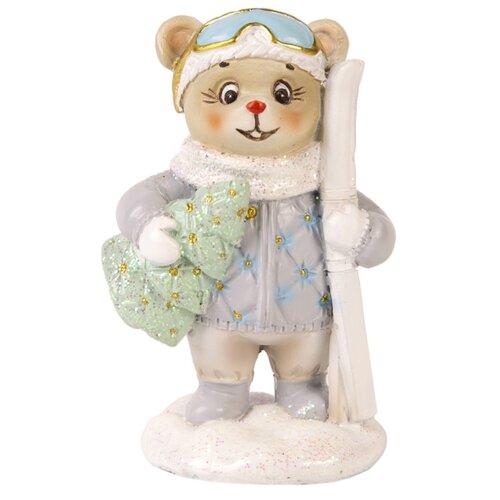 Фото - Фигурка Феникс Present Стеганный медведь 8 см голубой фигурка феникс present дедушка мороз 26 см белый голубой красный