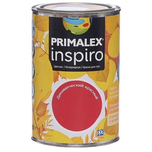 Краска PRIMALEX Inspiro моющаяся матовая динамический красный 1 л