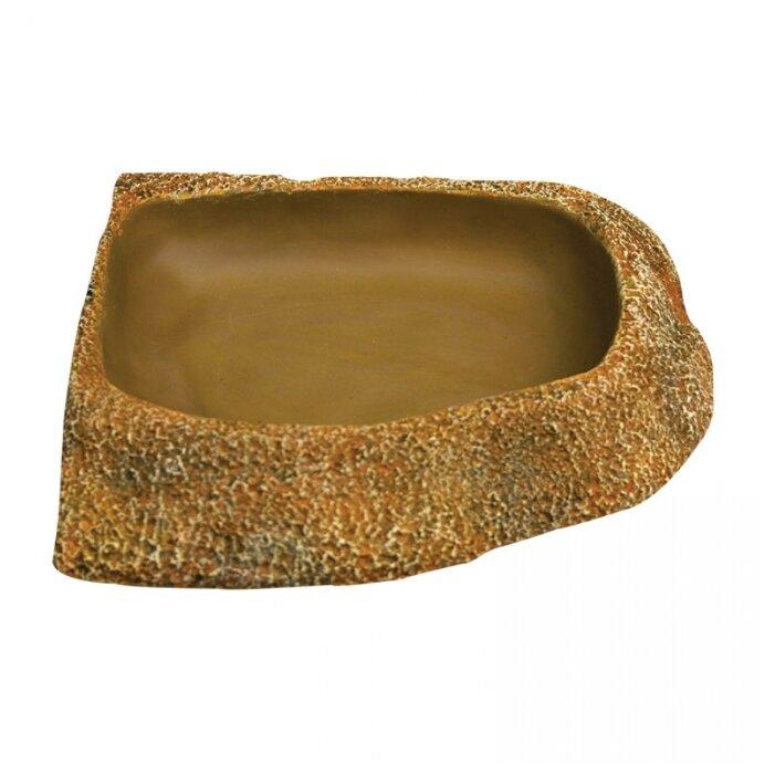 Кормушка для рептилий Reptile One Dyno Rock Bowl Corner Fit