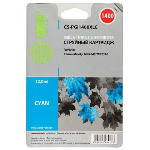 Купить Картридж cactus CS-PGI1400XLC, совместимый