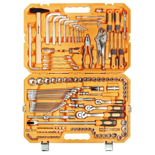 Набор инструментов Airline (132 предм.) AT-132-09 оранжевый набор инструментов универсальный 132 предмета фонарь пласт кейс airline at 132 09