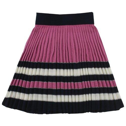 Юбка iBala размер 38 (110-116), темно-розовый/темно-синий футболка для мальчика batik цвет темно синий голубой ds0173 10 11 размер 110