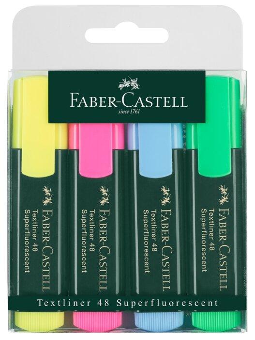 Faber-Castell Набор текстовыделителей Textliner 48 Superfluorescent, 4 шт.