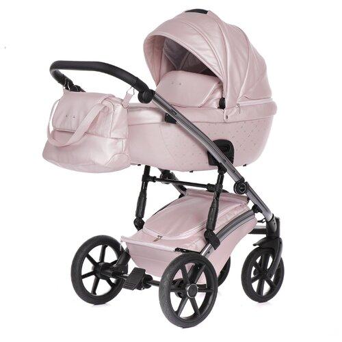 Универсальная коляска Pituso Cristal (2 в 1) розовый/silver, цвет шасси: серебристый