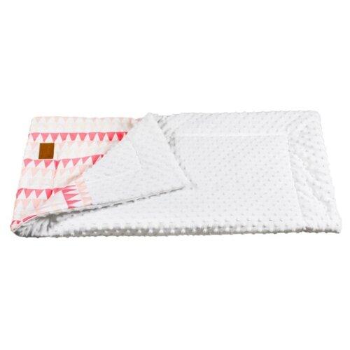 Купить Плед Amarobaby Растем вместе 85х95 см розовый/треугольники, Покрывала, подушки, одеяла