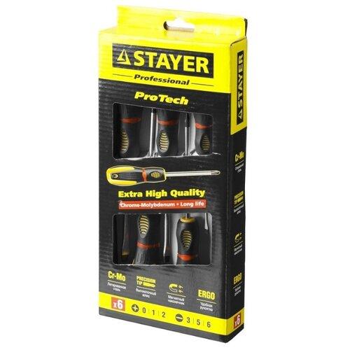 Фото - Набор отверток STAYER (6 предм.) 25133-H6_z02 черный/желтый набор отверток stayer master hercules 8 шт 25055 h8_z02