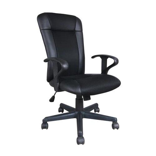 Компьютерное кресло Brabix Optima MG-370 офисное, обивка: текстиль/искусственная кожа, цвет: черный компьютерное кресло brabix nitro gm 001 игровое обивка искусственная кожа цвет черный