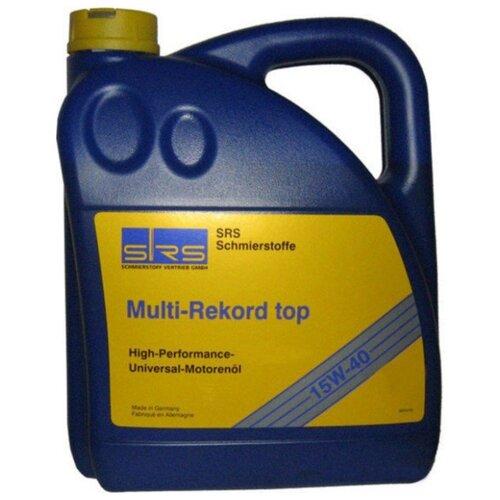 Минеральное моторное масло SRS Multi-Rekord top 15W40 4 л минеральное моторное масло srs multi rekord top 15w40 1 л
