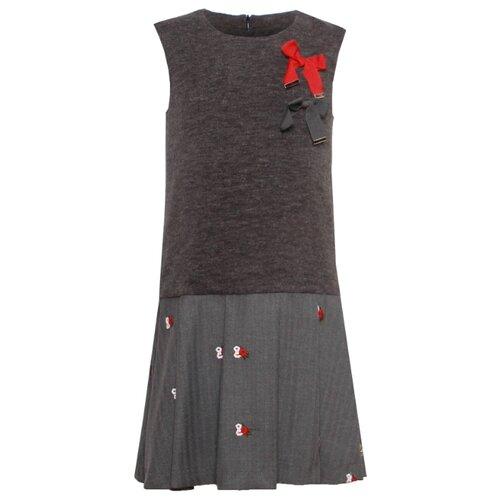 Платье Stefania Pinyagina размер 128, серый