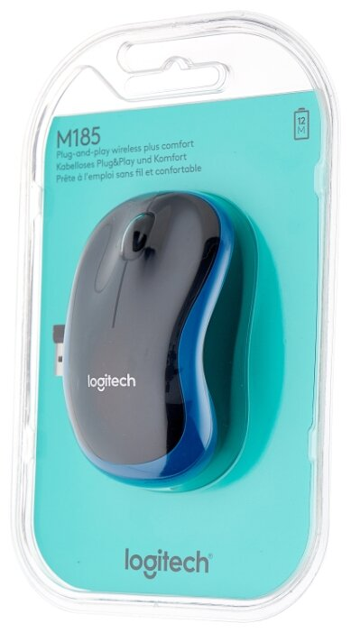 Мышь Logitech Wireless Mouse M185 Blue