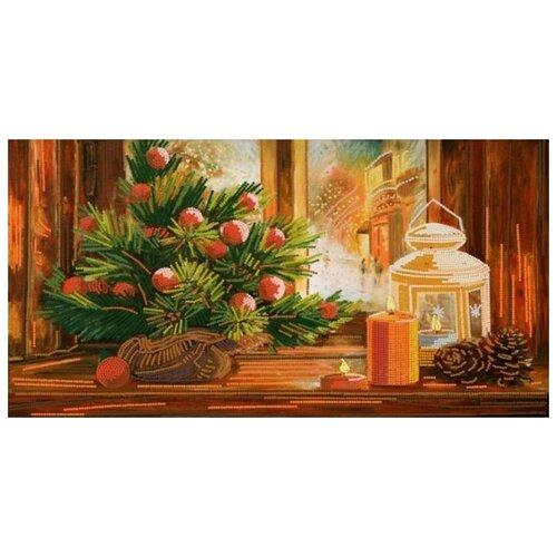 Купить Новогодний уют (рис. на сатене 25х45) (строчный шов) 25х45 Конек 8419, Конёк, Канва
