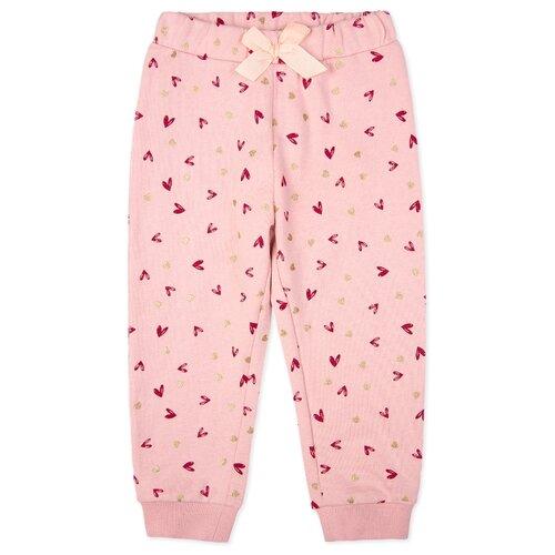 Купить Брюки playToday 398164 размер 92, светло-розовый, Брюки и шорты
