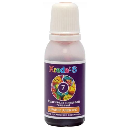 KREDA - S Краситель пищевой гелевый №7 Оранж электро 25 г