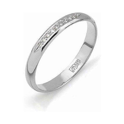 АЛЬКОР Кольцо с бриллиантами из белого золота 1356-200, размер 19 алькор кольцо с бриллиантами из белого золота 585 пробы 12015 200 размер 19 5