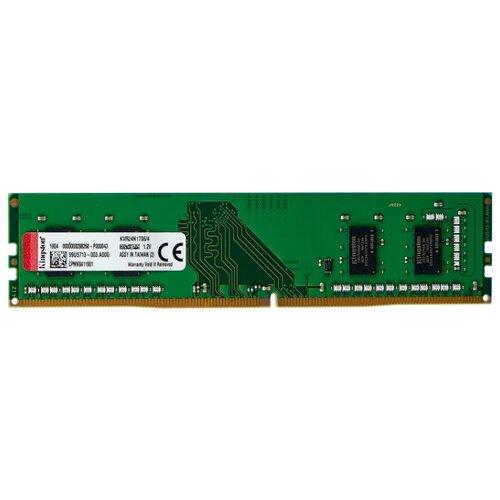 Оперативная память Kingston ValueRAM DDR4 2400 (PC 19200) DIMM 288 pin, 4 GB 1 шт. 1.2 В, CL 17, KVR24N17S6/4 оперативная память kingston valueram ddr4 2400 pc 19200 sodimm 260 pin 8 гб 1 шт 1 2 в cl 17 kvr24s17s8 8